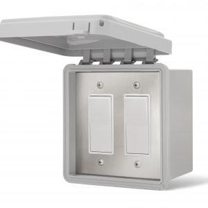 Interrupteur Double extérieur - Boîte & Couvert Imperméable