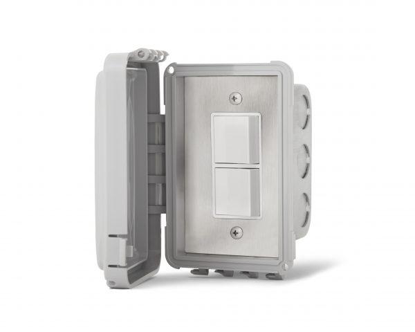 Interrupteur simple superposé encastré - Couvert Imperméable