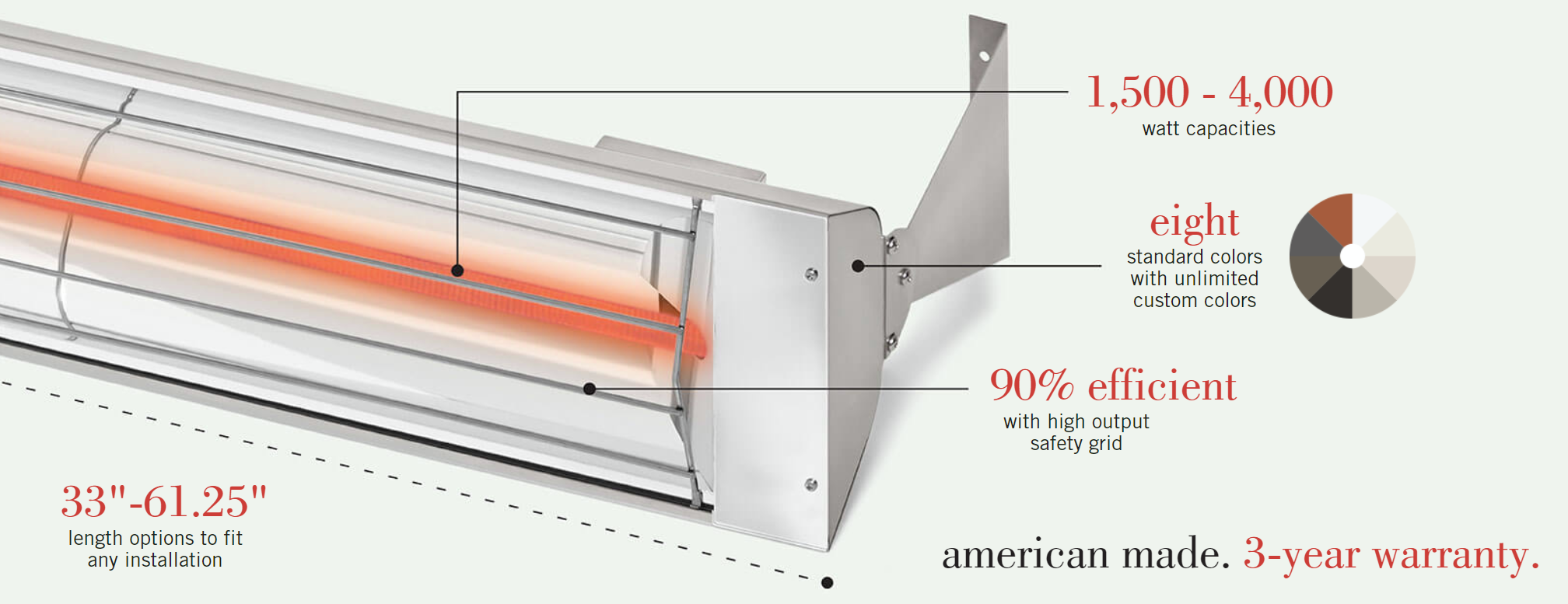 W-Series Infratech Heater