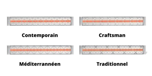 Grillages décoratifs acier inoxydable brossé